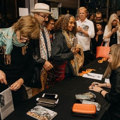 A record turn-out of over 100 people attended the launch presentation, where Book Soup sold over 60 copies within 30 minutes!