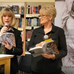 """Conversation with Colette"" from City of Immortals, as read by Carolyn and Kathleen Campbell, at @Books Inc. in Berkeley, CA"