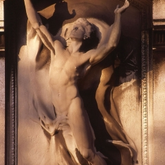 Relief representing Immortality by sculptor Henri Chapu on the tomb of French philosopher Jean Reynaud