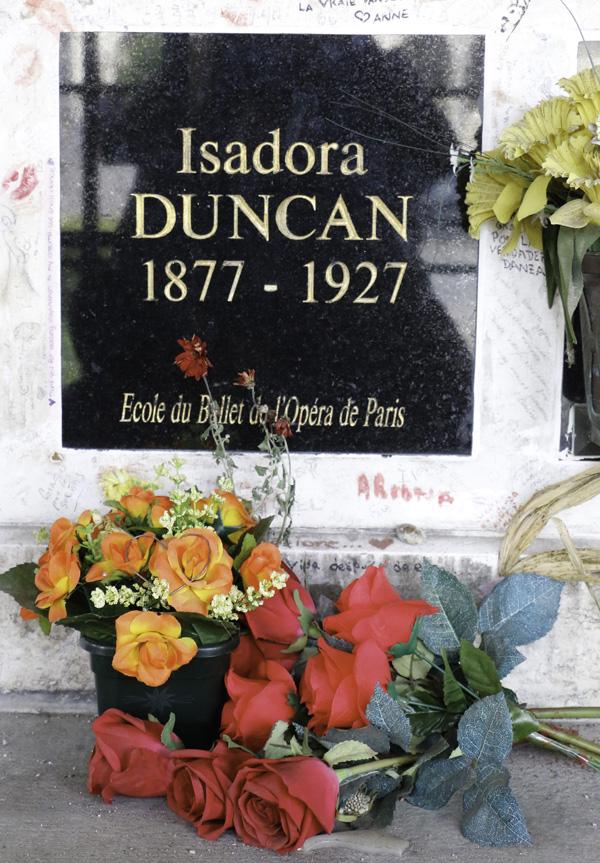 Grave of Isadora Duncan