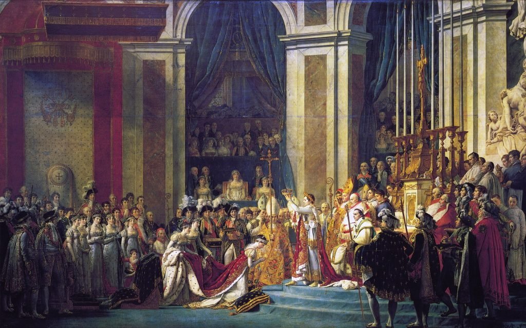 The Coronation of Napoléon by Jacques-Louis David
