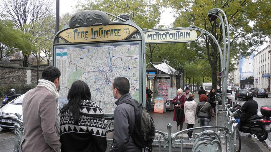The Boulevard Menilmontant Metro Stop