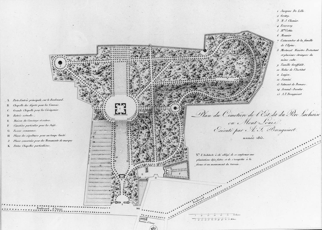 Early plan of the cemetery