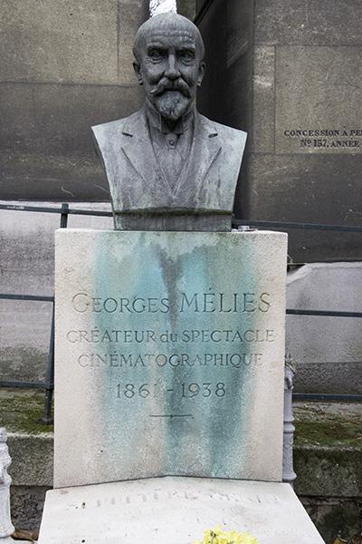 Gravesite of Georges Mélies at Père Lachaise Cemetery