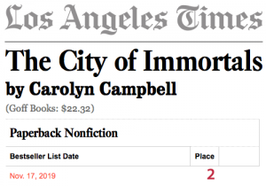 Los Angeles Times #2 non-fiction bestseller