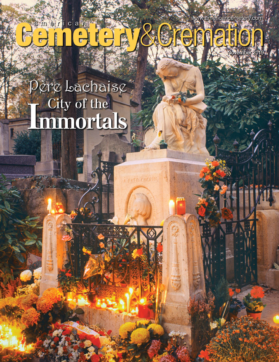 Cover of November 2019 issue of American Cemetery Magazine
