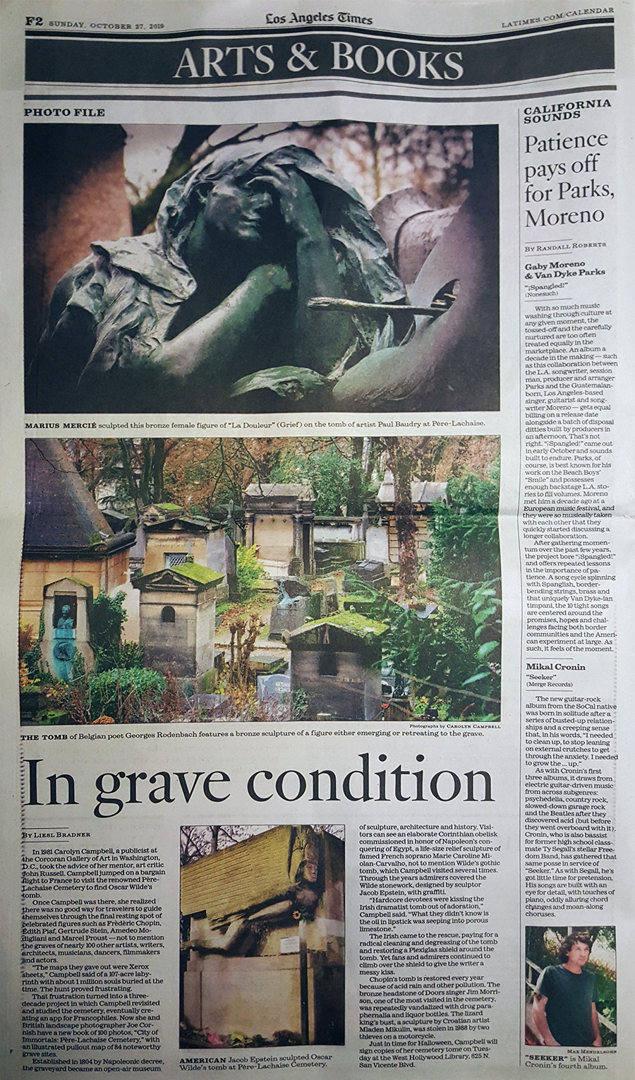Los Angeles Times - Arts & Books: In Grave Condition by Liesl Bradner