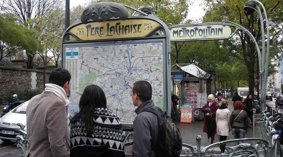 Père Lachaise Metropolitain Metro Stop