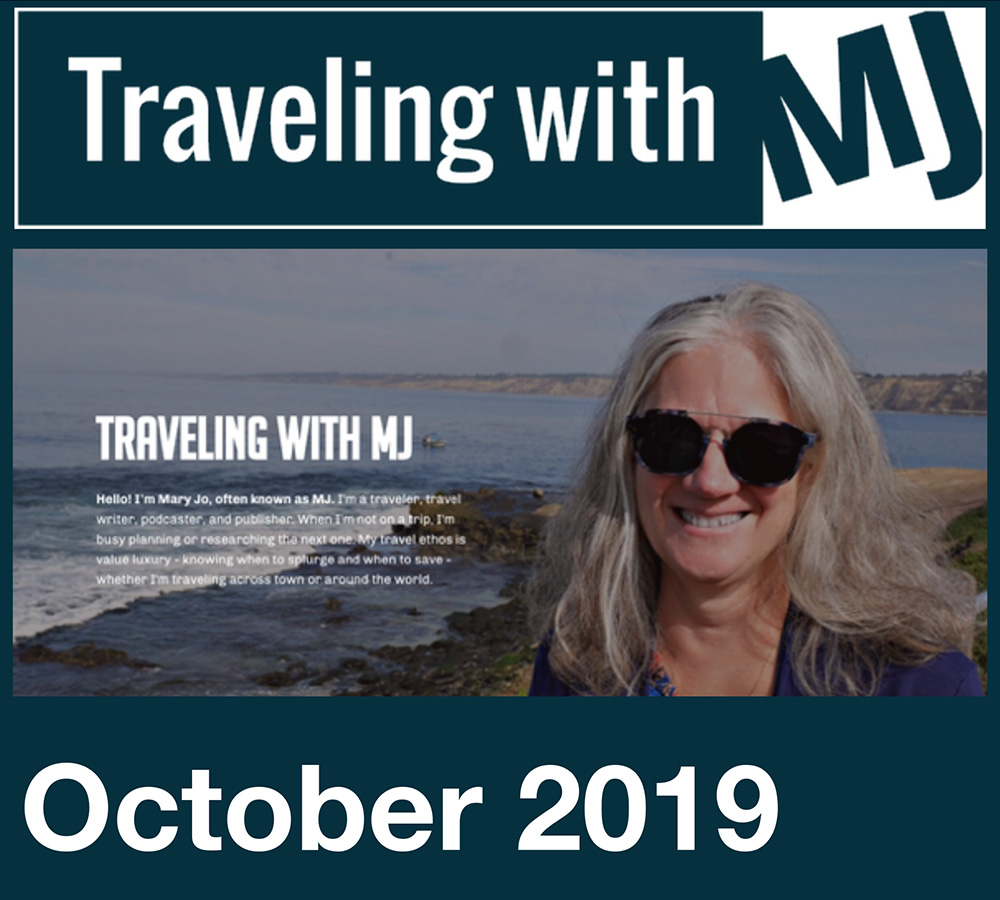 October 2019 Traveling with MJ Newsletter header