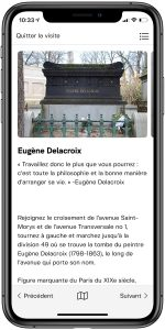 City of Immortals GPS Tour Delacroix Page - French
